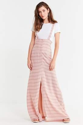 Flynn Skye Moss Striped Suspender Maxi Skirt