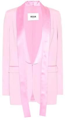 MSGM Satin lapel tuxedo jacket