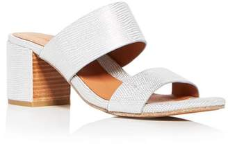 Kenneth Cole Gentle Souls by Gentle Souls Women's Cherie Snake Embossed Leather Block Heel Slide Sandals - 100% Exclusive