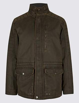 M&S Collection Washed Cotton Blend Parka