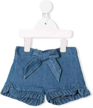 Chloé Kids frill trim denim shorts