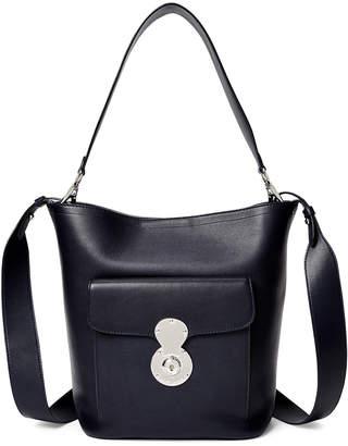 Ralph Lauren Smooth Leather Bucket Bag