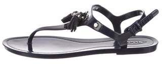 Tod's Tassel-Accented Thong Sandals