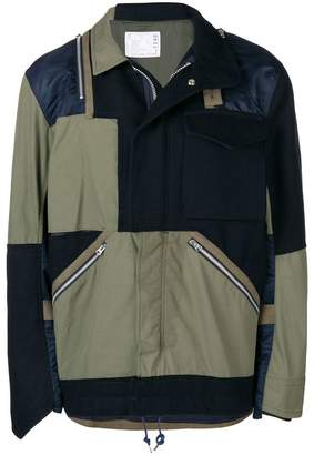 Sacai patchwork military jacket