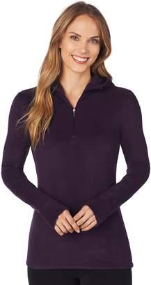 Cuddl Duds Women's Half-Zip Hooded Fleece