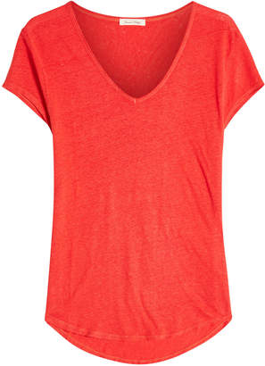 American Vintage Scoop Neck Linen T-Shirt