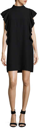 Kate Spade Satin Crepe Flutter Sleeve Dress