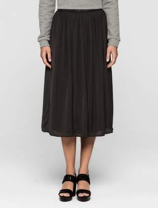 Calvin Klein pleated satin midi skirt