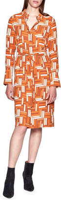 Equipment Roseabelle Geometric Long-Sleeve Shirtdress