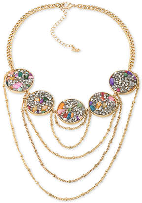 ABS by Allen Schwartz Gold-Tone Stone and Crystal Statement Necklace