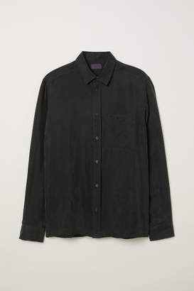 H&M Cupro Shirt - Black