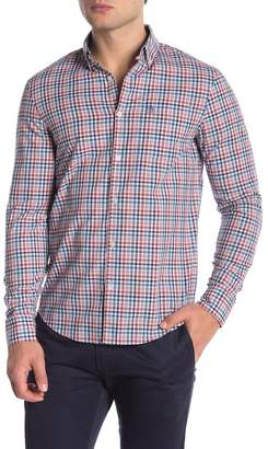 Original Penguin Mini Plaid Long Sleeve Slim Fit Shirt
