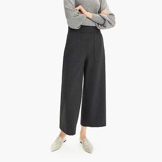 J.Crew Ponte wide-leg crop with patch pockets