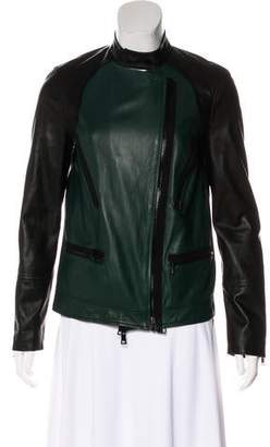 Robert Rodriguez Leather Biker Jacket