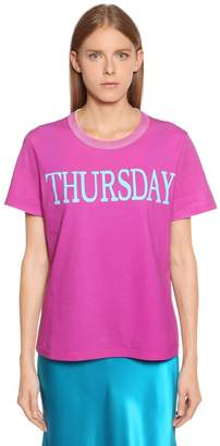 Alberta Ferretti Thursday Cotton Jersey T-Shirt