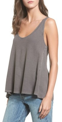 Women's Sun & Shadow Washed Thermal Tank $25 thestylecure.com