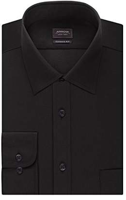 Arrow Men's Dress Shirts Regular Fit Solid Poplin