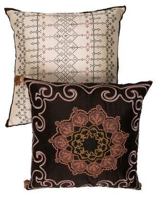 Iosis Embroidered Throw Pillows