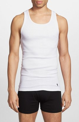 Men's Polo Ralph Lauren Classic 3-Pack Ribbed Tank $39.50 thestylecure.com