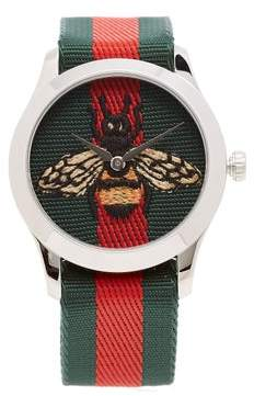 Gucci G Timeless Web Striped Canvas Watch - Mens - Multi