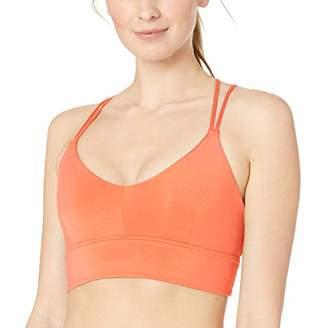 aa029fab5e Core 10 Women s Strappy Longline Plunge Yoga Bralette Sports Bra