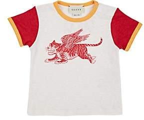 Gucci Infants' Lion-Print Linen T-Shirt - Cream