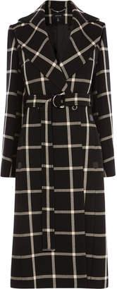 Karen Millen Large Check Midi Coat