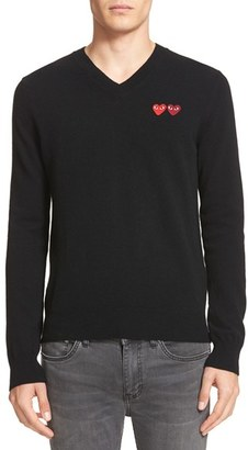 Men's Comme Des Garcons Play Wool Pullover $299 thestylecure.com