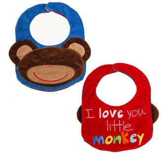 Evergreen Reversible Bib- Monkey