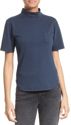 Women's Frame Mock Neck Cotton Tee $115 thestylecure.com