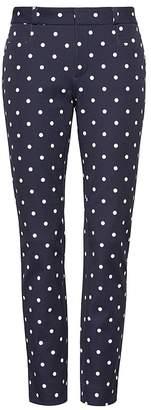 Banana Republic Petite Sloan Skinny-Fit Dot Ankle Pant