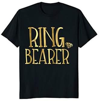 Ring Bearer Shirt Gold Wedding Party Bride Groom