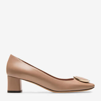 Bally Deisy Neutral, Women's plain goat leather pump with 45mm heel in nude