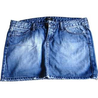Et Vous Blue Cotton Skirt for Women