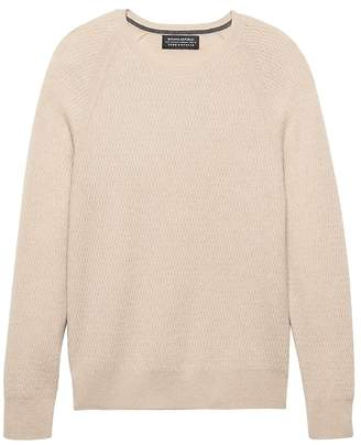 Banana Republic Todd & Duncan Cashmere Thermal Crew-Neck Sweater