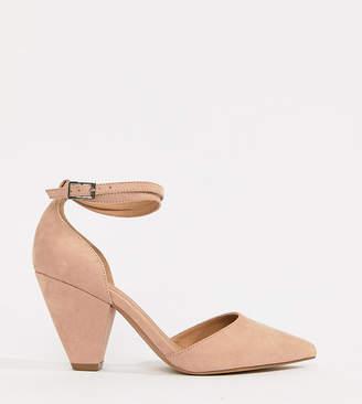 Asos DESIGN Speakeasy pointed mid heels
