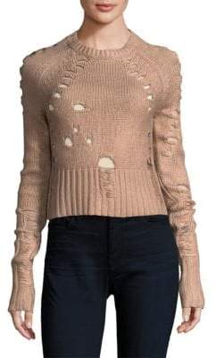 Zoe Jordan Euler Distress Crop Sweater