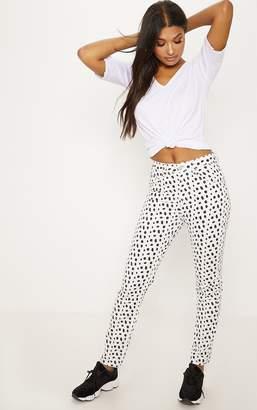 PrettyLittleThing Polka Dot Straight Leg Jean