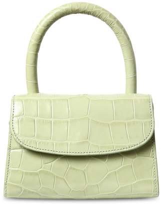 Mini Croc Embossed Leather Bag
