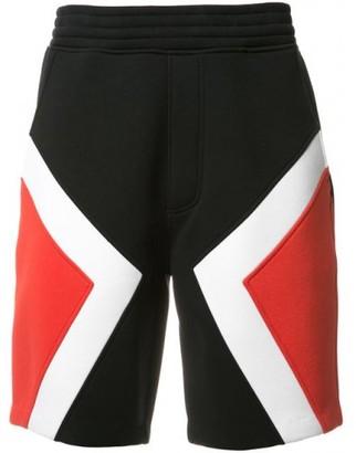 Neil Barrett Colour Block Shorts $440 thestylecure.com