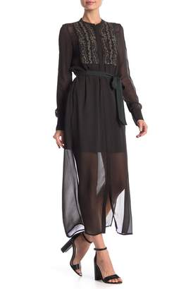 French Connection Donna Sheer Embroidered Dress