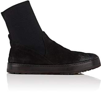 Marsèll Women's Distressed Suede & Knit Ankle Boots