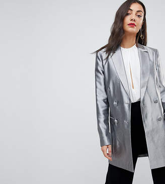 Asos Tall TALL Longline Blazer in Metallic