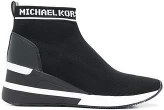 MICHAEL Michael Kors logo sock sneakers
