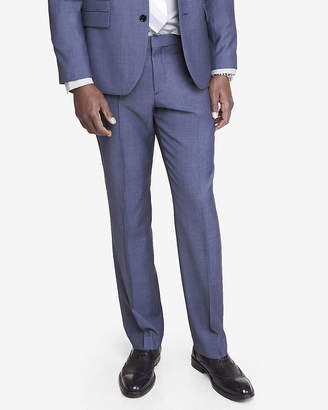 Express Slim Blue Wool Twill Suit Pant