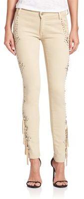 Polo Ralph Lauren Embellished Fringe Jeans $298 thestylecure.com