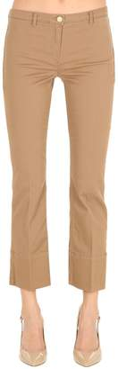 Max Mara 's Flared Cropped Cotton Drill Pants