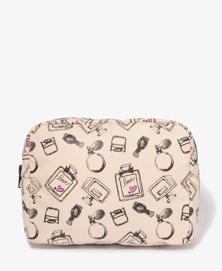 Forever 21 Perfume Print Cosmetic Bag