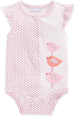 First Impressions Dot-Print Birds Creeper, Baby Girls', Only at Macy's $5.98 thestylecure.com