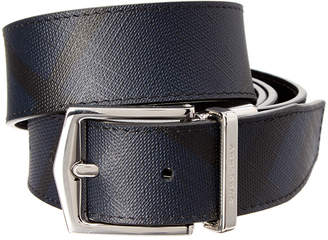 Burberry Reversible & Adjustable Check Leather Belt